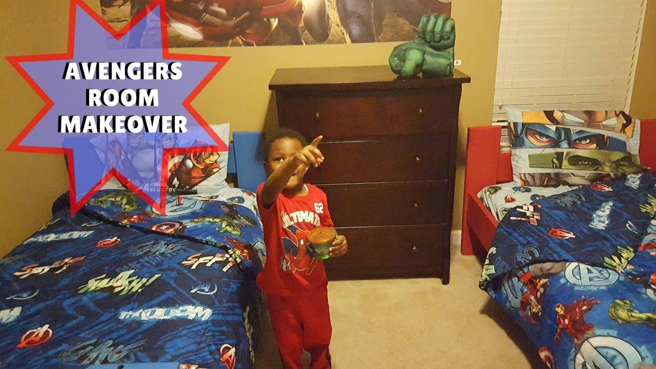 diy surprise avengers kids room makeover youtube rh youtube com Avengers Initiative Chat Rooms Avenger Themed Boys Room
