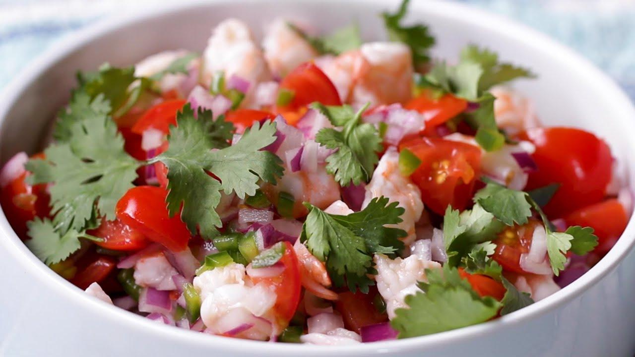 5-Ingredient Shrimp Ceviche •Tasty