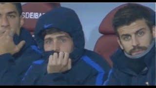 Neymar Jr Marca Golaço - Olha a reação do banco ao ver o Gol (Barcelona vs Juventus)
