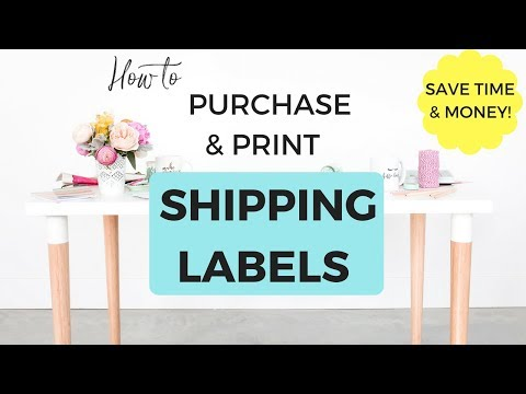 How to Purchase & Print Shipping Labels for Your Online Stor