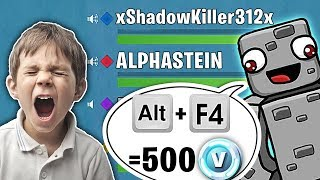 ALT + F4 = 500 vBucks TROLL with alpha stone in FORTNITE!