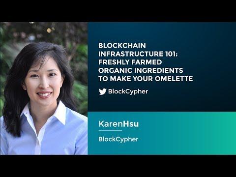 Karen Hsu: Blockchain Infrastructure 101 - Freshly farmed organic ingredients to make your omelette