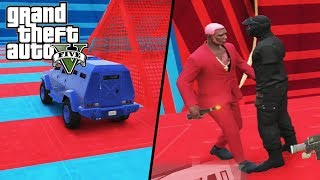 GTA V - Davy Jones Usou HACK? RPG x Carro IMORTAL