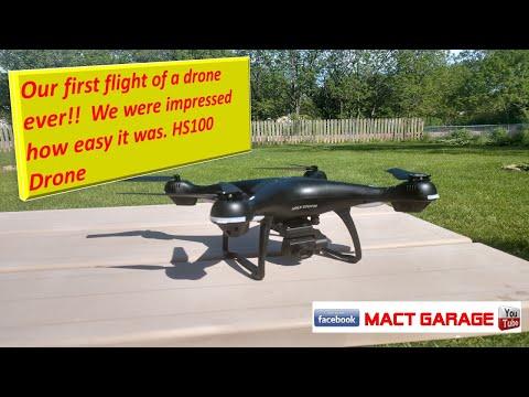 Holystone HS100 drone first flight