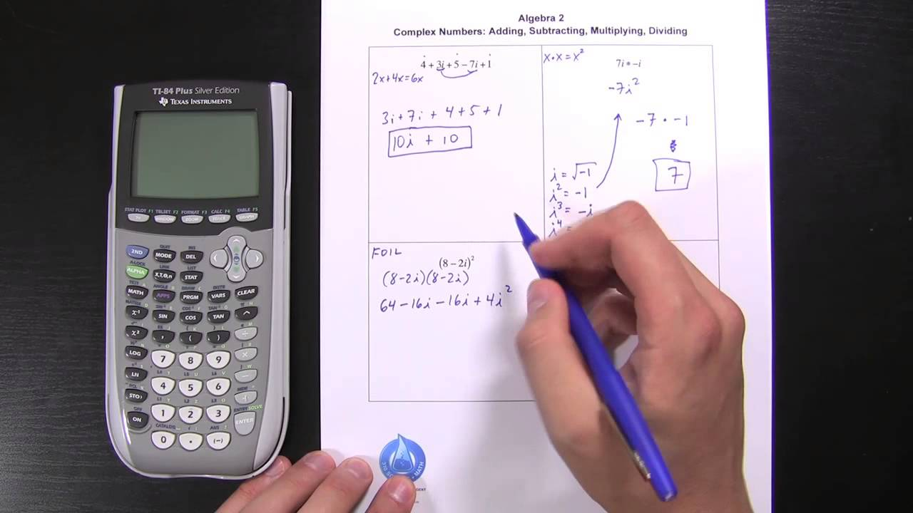 13 Imaginary Numbers or Complex Number Operations YouTube – Adding and Subtracting Complex Numbers Worksheet