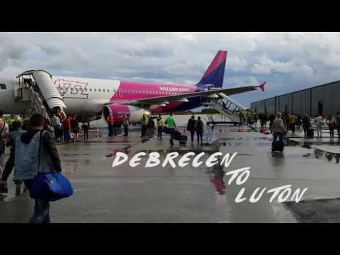 WIZZ Air take off Debrecen to Luton
