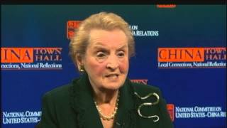 Madeleine Albright on China: NCUSCR