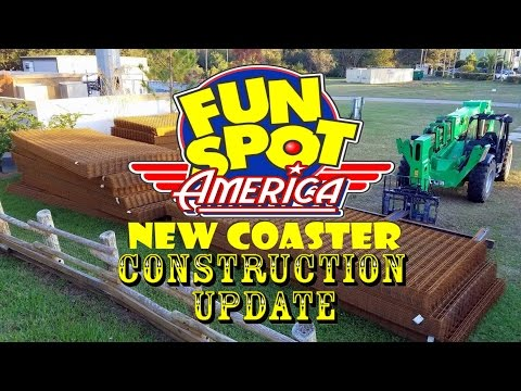 Fun Spot America (Kissimmee) New Coaster / Old Town Construction Update 12.22.16 Supplies Arrive!
