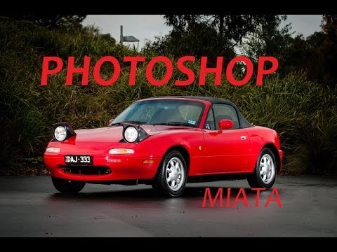 tuning a mazda mx5 na in photoshop youtube. Black Bedroom Furniture Sets. Home Design Ideas
