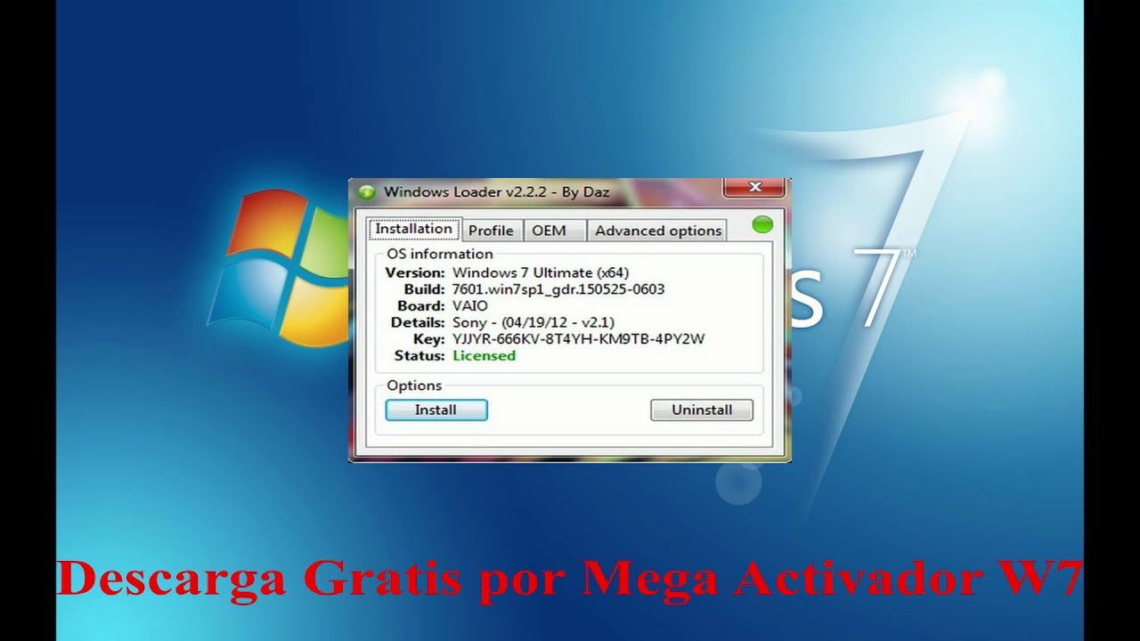 Descargar Activador windows 7