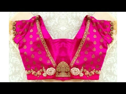 V Neck Saree Blouse Designs
