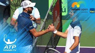 Djokovic, Paire Hawk-Eye challenge mix-up | Miami Open 2018