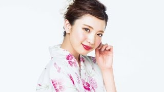 with2015年8月号掲載!モデル宮田聡子連載「聡子BEAUTY」のテーマは浴衣...