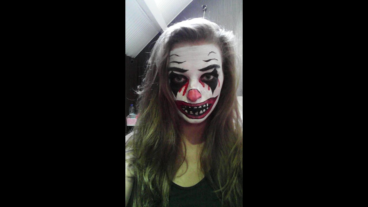 Maquillage halloween n 1 clown youtube - Image maquillage halloween ...