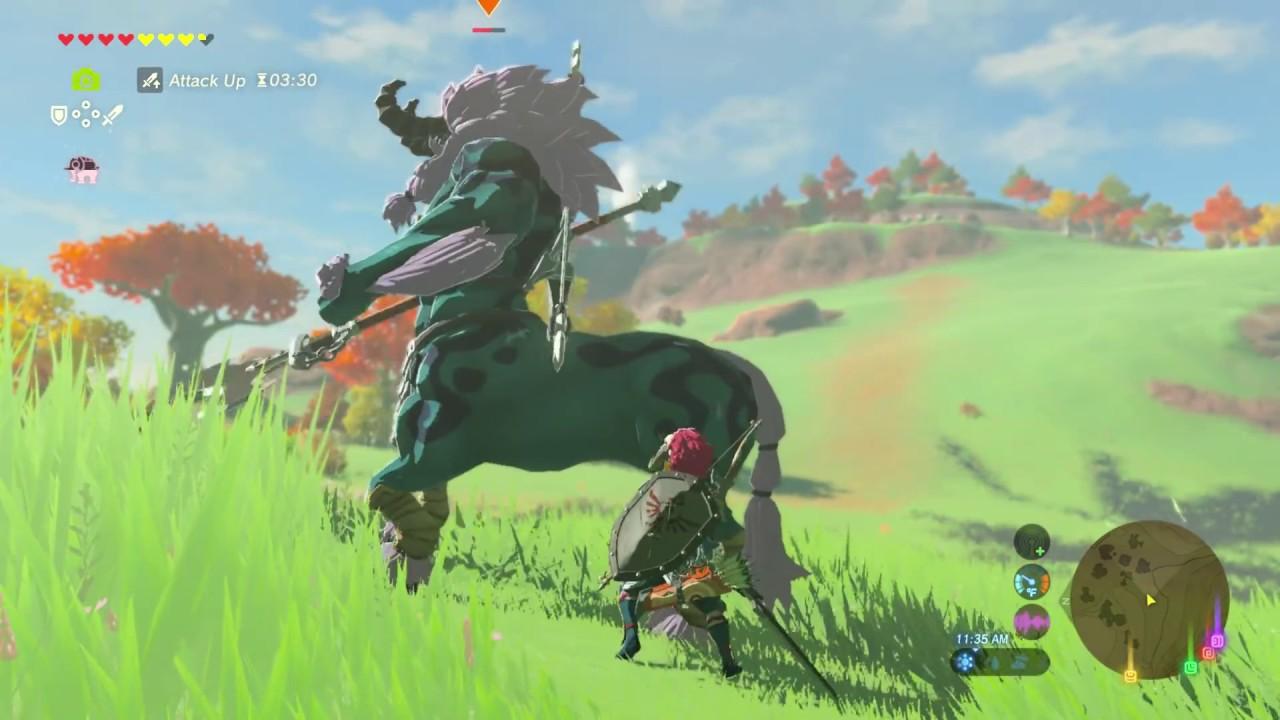 Zelda Breath Of The Wild Link Vs Centaleon Youtube