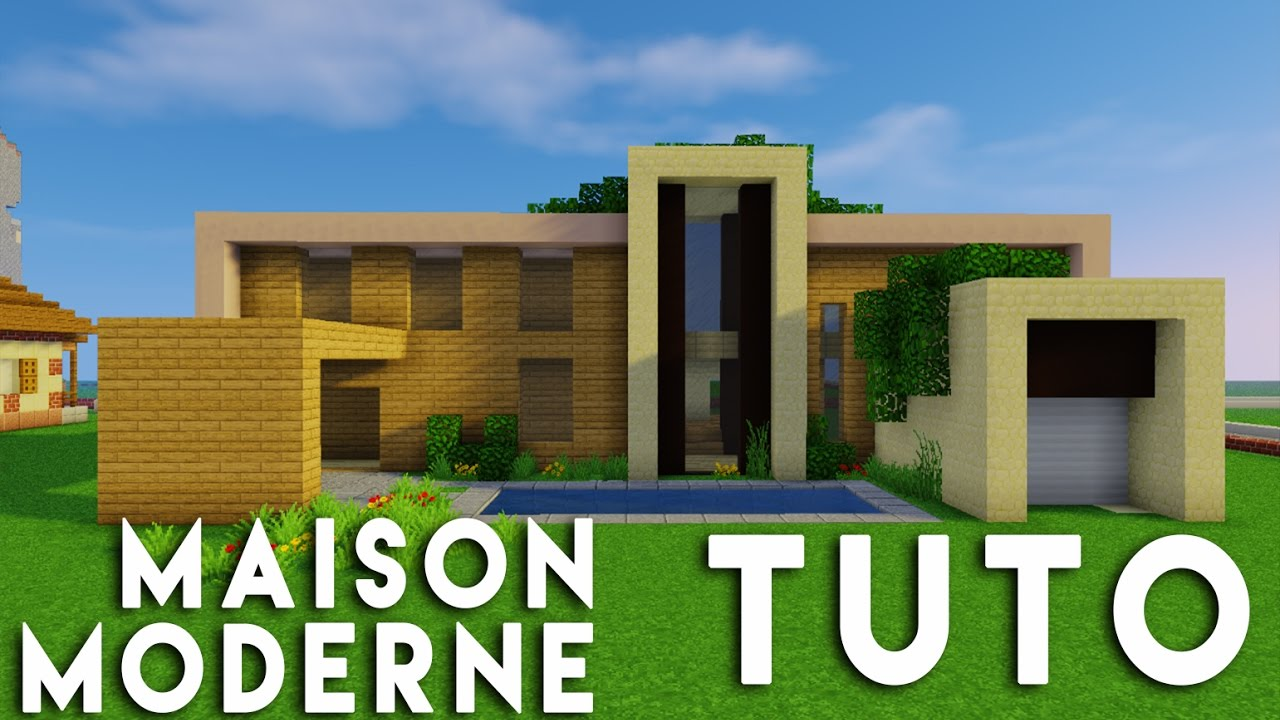 Minecraft  Tuto construction maison moderne en bois  YouTube