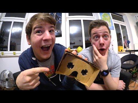 Valentin Möller & Felixba testen Google Cardboard :)