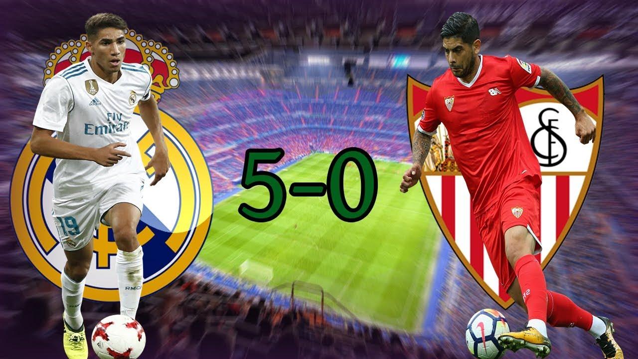 Real Madrid vs Sevilla 5-0 Skrót Meczu (ENG) 09/12/2017 ...