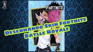 #Fortnite #BatlleRoyale Dessin Fortnite/Drawing Fortnite (Peau Atemporal)