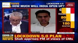 Lockdown5.0: Sachin Pilot Speaks Exclusive On What Rajasthan Wants? | News Today With Rajdeep