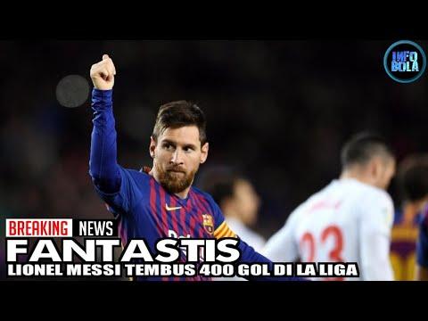 Wow! Lionel Messi Tembus 400 Gol di La Liga Spanyol Mp3