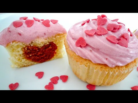 Himbeer-Vanille Cupcakes mit ♥ für den Valentinstag oder Muttertag