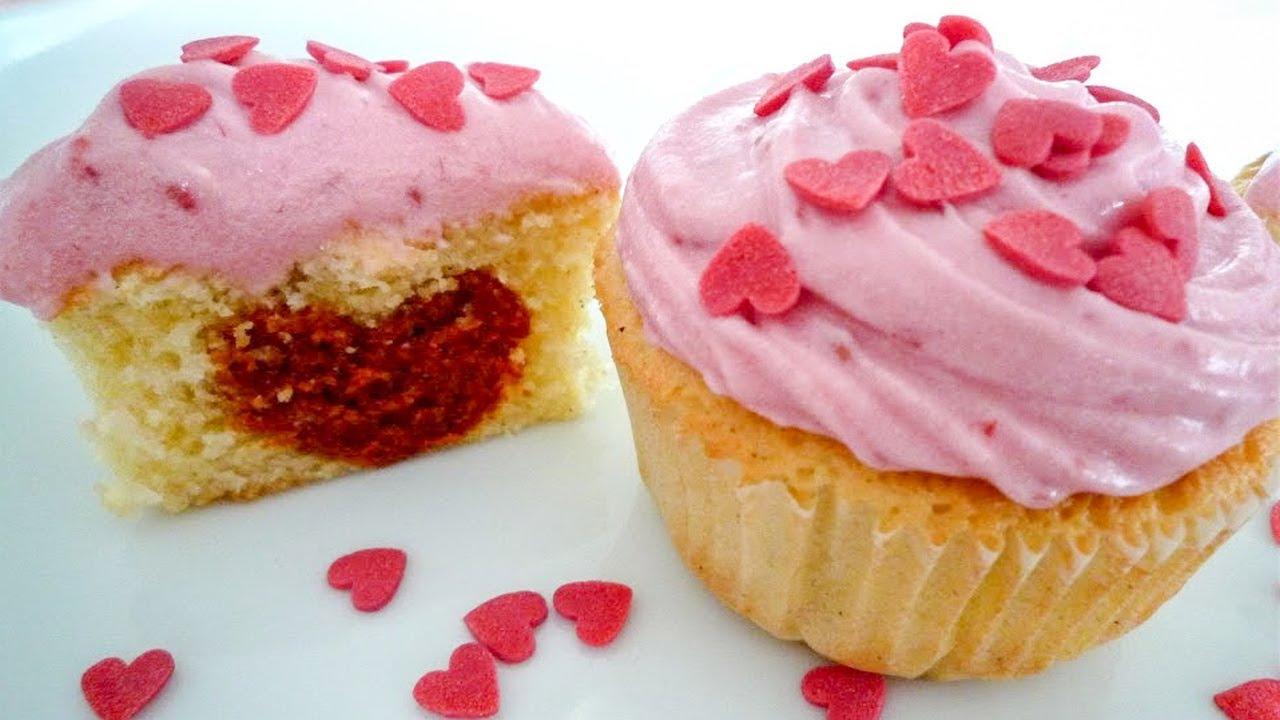 Himbeer Vanille Cupcakes Mit ♥ Für Den Valentinstag Oder Muttertag   YouTube