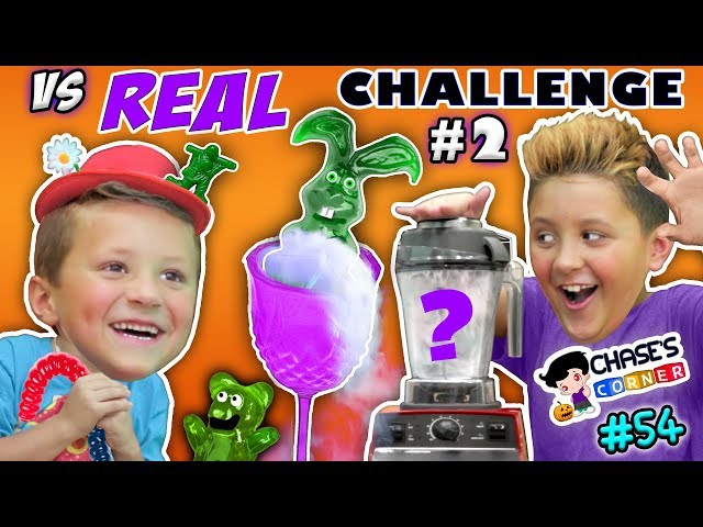 Chases Corner: GUMMY vs REAL Halloween Edition (#54) | DOH MUCH FUN