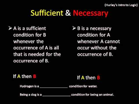 Conditionals, & Necessary & Sufficient Conditions