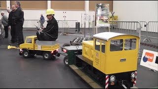Modellbahn XXL /Tieflader, V14, Schotterwagen, 2-Wege Unimog....im Einsatz bei Modellbau Messe Wels