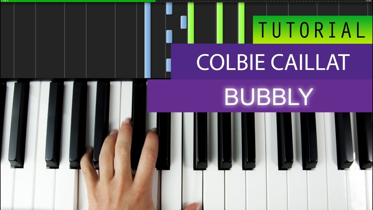 Colbie Caillat Bubbly Piano Tutorial Youtube