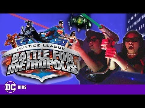 RIDING JUSTICE LEAGUE: BATTLE FOR METROPOLIS AT SIX FLAGS MAGIC MOUNTAIN | DC KIDS SHOW