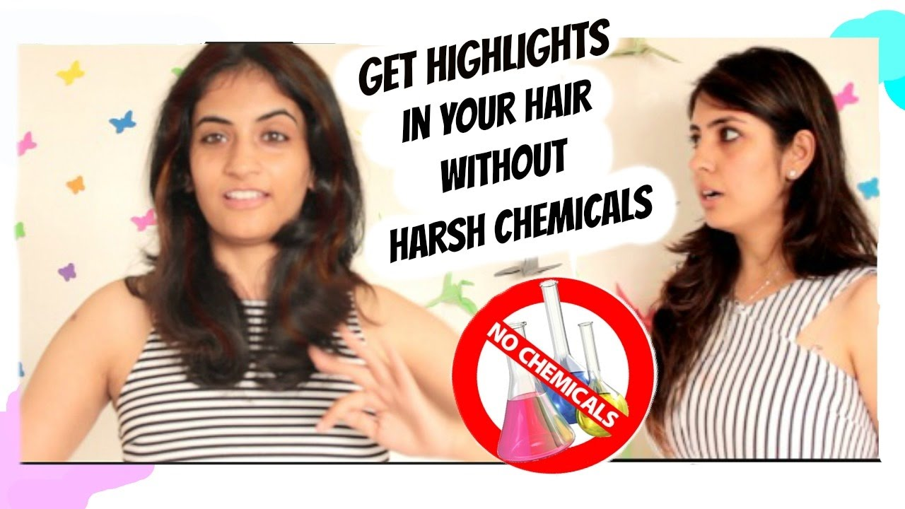 How to get highlight effect in hair without harsh chemicals youtube how to get highlight effect in hair without harsh chemicals pmusecretfo Image collections