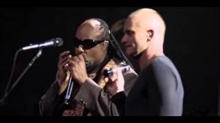 Sting, Stevie Wonder - Fragile - live