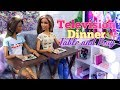 DIY - How to Make: Doll TV Tray and  TV Dinner | PLUS it really folds for easy storage!