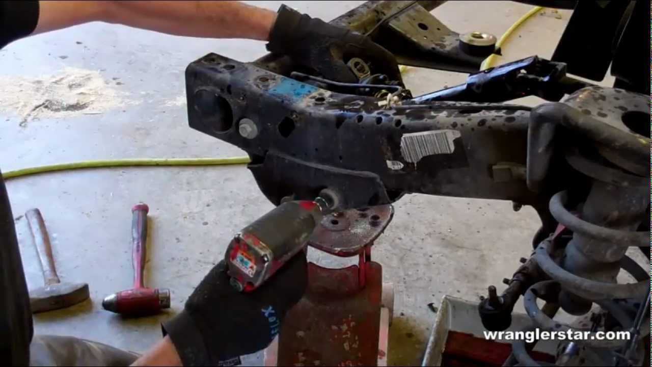 How To Replace A Jeep Wrangler Steering Gear 97 06 Youtube