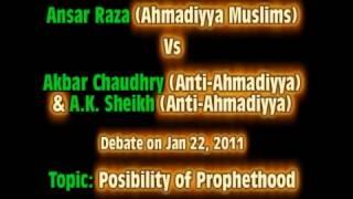 MUST WATCH: Debate Ahmadiyya (Ansar Raza) VS Non-Ahmadiyya (Akbar Choudry) - NEW