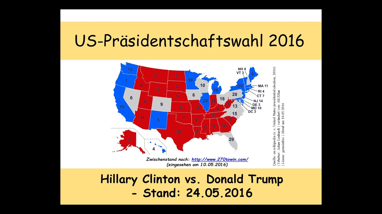 Stand Präsidentenwahl Usa