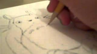 how to draw totoro part 3