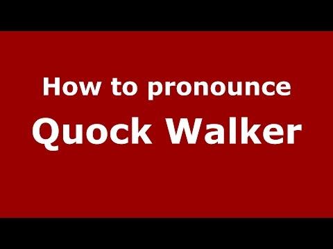 How to pronounce Quock Walker (American English/US)  - PronounceNames.com