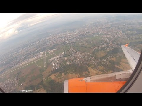 Fantastic City & Airport view - Takeoff @ Basel/Mulhouse Airport | EasyJet Switzerland A320 HB-JZX