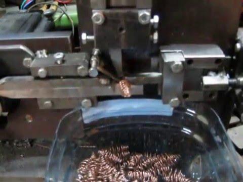 станок для изготовления конусных пружин - YouTube