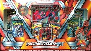 AMAZING NEW - INCINEROAR GX PREMIUM COLLECTION BOX OPENING! POKEMON UNWRAPPED