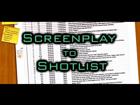 Filmmaking Tutorial - How To Create A Shotlist From A Screenplay