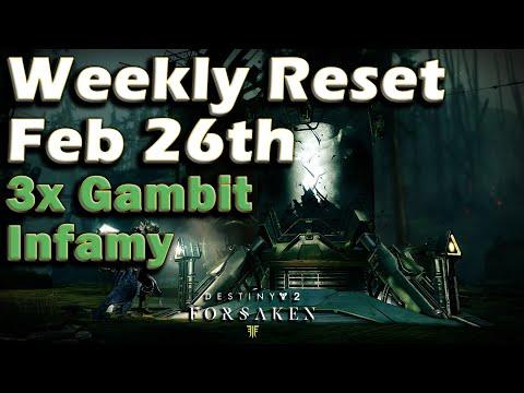 Destiny 2 - Week of Feb 26th - Triple Gambit Infamy - Final Week Season of the Forge thumbnail