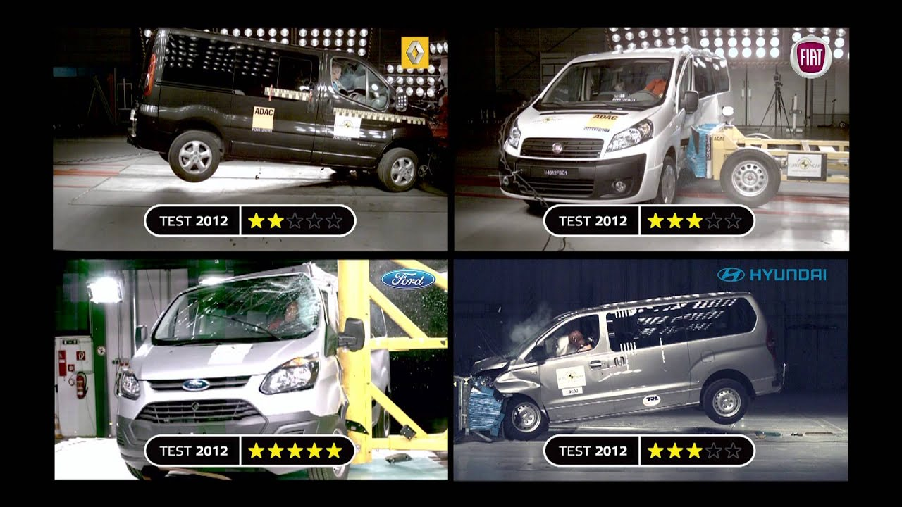 euro ncap testing the safety of business and family vans youtube. Black Bedroom Furniture Sets. Home Design Ideas