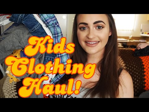 SELLING KIDS CLOTHES ON POSHMARK AND EBAY!   Thrift Haul   Part Time Reseller