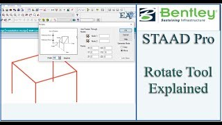 STAAD Pro Tutorial For Beginners [Episode 7]: Using Rotate Tool