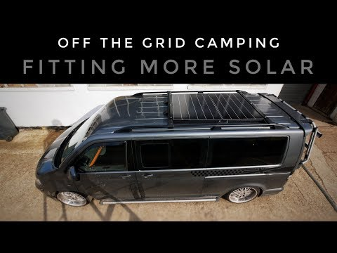 fitting-more-solar-panels---vw-t5-camper-(off-the-grid-camping)