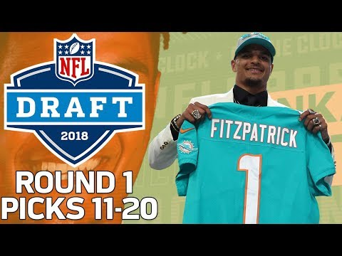 Picks 11-20: More Trades, & A lot of Defense! (Round 1) | 2018 NFL Draft